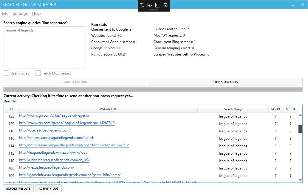 Google Scraper - Scrape unlimited results from Google + Bing